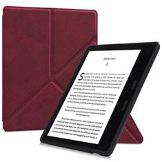 Handytasche Stand Schutzhülle Flip Leder Hülle L02 für Amazon Kindle Oasis 7 inch Fuchsie