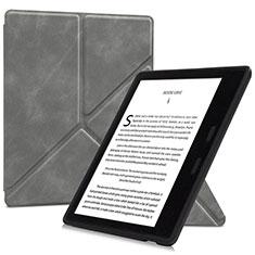 Handytasche Stand Schutzhülle Flip Leder Hülle L02 für Amazon Kindle Oasis 7 inch Grau