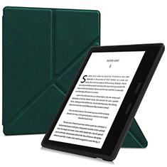 Handytasche Stand Schutzhülle Flip Leder Hülle L02 für Amazon Kindle Oasis 7 inch Grün