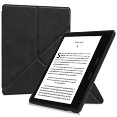 Handytasche Stand Schutzhülle Flip Leder Hülle L02 für Amazon Kindle Oasis 7 inch Schwarz