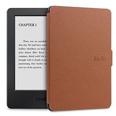 Handytasche Stand Schutzhülle Flip Leder Hülle L02 für Amazon Kindle Paperwhite 6 inch Braun