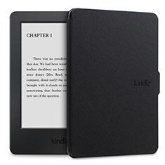 Handytasche Stand Schutzhülle Flip Leder Hülle L02 für Amazon Kindle Paperwhite 6 inch Schwarz