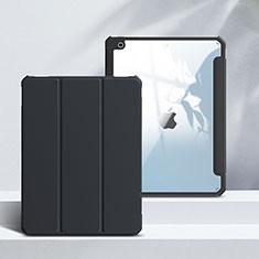 Handytasche Stand Schutzhülle Flip Leder Hülle L02 für Apple iPad 10.2 (2020) Schwarz