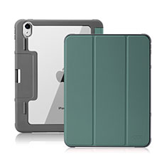 Handytasche Stand Schutzhülle Flip Leder Hülle L02 für Apple iPad Air 10.9 (2020) Nachtgrün