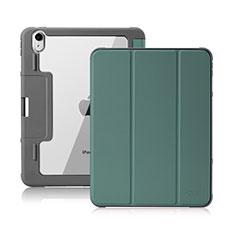 Handytasche Stand Schutzhülle Flip Leder Hülle L02 für Apple iPad Air 4 10.9 (2020) Nachtgrün