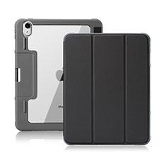 Handytasche Stand Schutzhülle Flip Leder Hülle L02 für Apple iPad Air 4 10.9 (2020) Schwarz