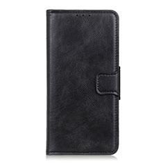 Handytasche Stand Schutzhülle Flip Leder Hülle L02 für Apple iPhone 12 Pro Schwarz
