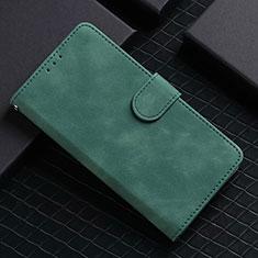 Handytasche Stand Schutzhülle Flip Leder Hülle L02 für Google Pixel 5 Grün
