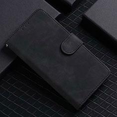 Handytasche Stand Schutzhülle Flip Leder Hülle L02 für Google Pixel 5 Schwarz
