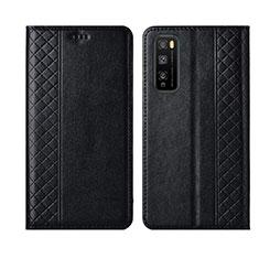 Handytasche Stand Schutzhülle Flip Leder Hülle L02 für Huawei Enjoy 20 Pro 5G Schwarz