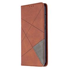 Handytasche Stand Schutzhülle Flip Leder Hülle L02 für Huawei P40 Lite E Braun