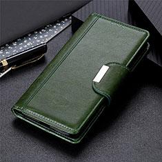 Handytasche Stand Schutzhülle Flip Leder Hülle L02 für Huawei Y6p Grün