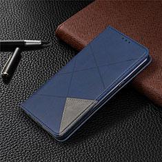 Handytasche Stand Schutzhülle Flip Leder Hülle L02 für LG K61 Blau