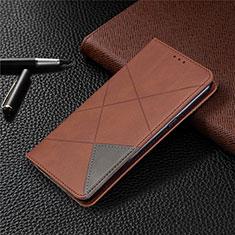 Handytasche Stand Schutzhülle Flip Leder Hülle L02 für LG K61 Braun