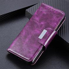 Handytasche Stand Schutzhülle Flip Leder Hülle L02 für LG Q52 Violett
