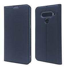 Handytasche Stand Schutzhülle Flip Leder Hülle L02 für LG V50 ThinQ 5G Blau