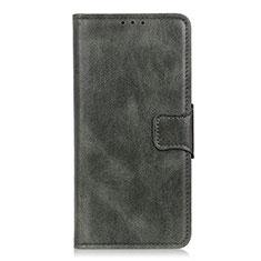 Handytasche Stand Schutzhülle Flip Leder Hülle L02 für LG Velvet 4G Nachtgrün