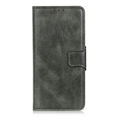 Handytasche Stand Schutzhülle Flip Leder Hülle L02 für LG Velvet 5G Nachtgrün
