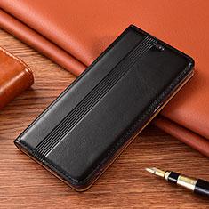 Handytasche Stand Schutzhülle Flip Leder Hülle L02 für Motorola Moto E7 Plus Schwarz
