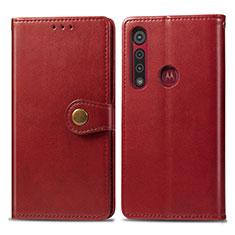 Handytasche Stand Schutzhülle Flip Leder Hülle L02 für Motorola Moto G8 Play Rot
