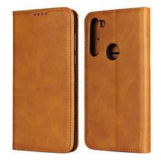 Handytasche Stand Schutzhülle Flip Leder Hülle L02 für Motorola Moto G8 Power Orange