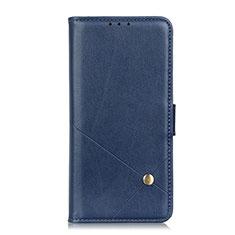 Handytasche Stand Schutzhülle Flip Leder Hülle L02 für Motorola Moto G9 Plus Blau