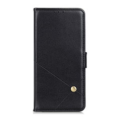 Handytasche Stand Schutzhülle Flip Leder Hülle L02 für Motorola Moto G9 Plus Schwarz