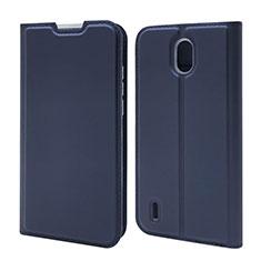 Handytasche Stand Schutzhülle Flip Leder Hülle L02 für Nokia 1.3 Blau