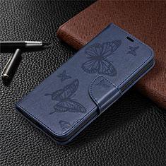 Handytasche Stand Schutzhülle Flip Leder Hülle L02 für Nokia 3.4 Blau