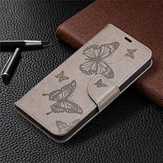 Handytasche Stand Schutzhülle Flip Leder Hülle L02 für Nokia 3.4 Grau