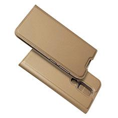 Handytasche Stand Schutzhülle Flip Leder Hülle L02 für Nokia 4.2 Gold