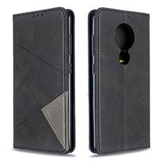 Handytasche Stand Schutzhülle Flip Leder Hülle L02 für Nokia 6.2 Schwarz