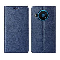Handytasche Stand Schutzhülle Flip Leder Hülle L02 für Nokia 8.3 5G Blau