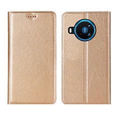 Handytasche Stand Schutzhülle Flip Leder Hülle L02 für Nokia 8.3 5G Gold