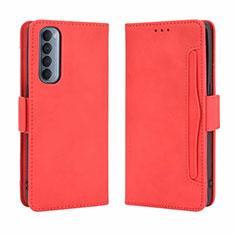Handytasche Stand Schutzhülle Flip Leder Hülle L02 für Oppo Reno4 Pro 4G Rot