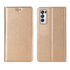 Handytasche Stand Schutzhülle Flip Leder Hülle L02 für Oppo Reno5 Pro+ Plus 5G Gold