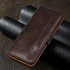 Handytasche Stand Schutzhülle Flip Leder Hülle L02 für Realme 5i Braun