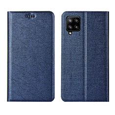 Handytasche Stand Schutzhülle Flip Leder Hülle L02 für Samsung Galaxy A42 5G Blau