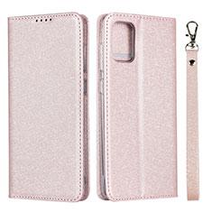 Handytasche Stand Schutzhülle Flip Leder Hülle L02 für Samsung Galaxy A51 4G Rosa