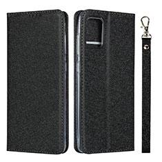Handytasche Stand Schutzhülle Flip Leder Hülle L02 für Samsung Galaxy A51 4G Schwarz