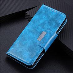Handytasche Stand Schutzhülle Flip Leder Hülle L02 für Samsung Galaxy S21 Ultra 5G Hellblau