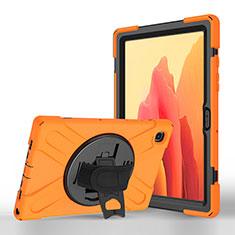 Handytasche Stand Schutzhülle Flip Leder Hülle L02 für Samsung Galaxy Tab A7 4G 10.4 SM-T505 Orange