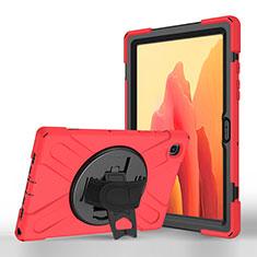 Handytasche Stand Schutzhülle Flip Leder Hülle L02 für Samsung Galaxy Tab A7 Wi-Fi 10.4 SM-T500 Rot