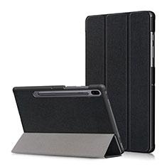 Handytasche Stand Schutzhülle Flip Leder Hülle L02 für Samsung Galaxy Tab S6 10.5 SM-T860 Schwarz