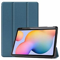 Handytasche Stand Schutzhülle Flip Leder Hülle L02 für Samsung Galaxy Tab S6 Lite 4G 10.4 SM-P615 Grün