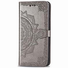 Handytasche Stand Schutzhülle Flip Leder Hülle L02 für Samsung Galaxy XCover Pro Grau