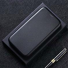 Handytasche Stand Schutzhülle Flip Leder Hülle L02 für Sharp AQUOS Sense4 Plus Schwarz
