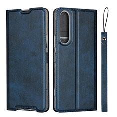 Handytasche Stand Schutzhülle Flip Leder Hülle L02 für Sony Xperia 1 II Blau