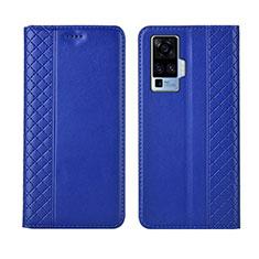 Handytasche Stand Schutzhülle Flip Leder Hülle L02 für Vivo X50 Pro 5G Blau