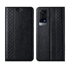 Handytasche Stand Schutzhülle Flip Leder Hülle L02 für Vivo X60 5G Schwarz